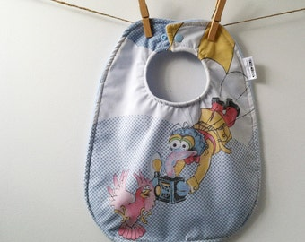Bib Made from Vintage Muppets Sheets - Gonzo