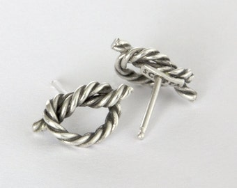Twisted Rope Knot earrings