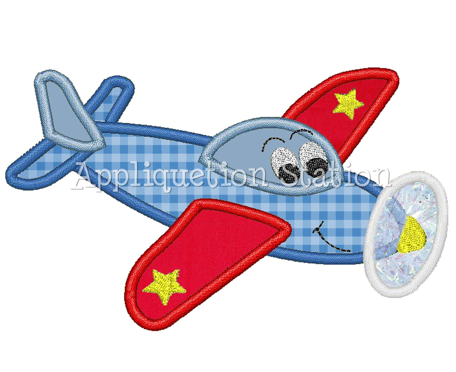 Airplane plane character applique machine embroidery for Embroidery office design version 9