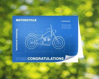 Motorbike Congratulations Card