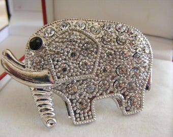 Lovely Large Elephant Brooch