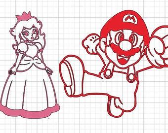 Mario, Luigi, Peach, Yoshi decals