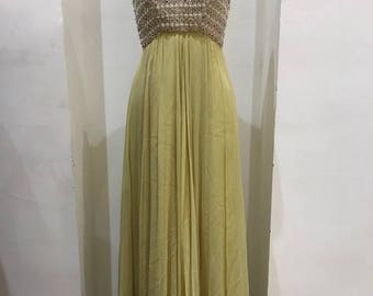 Stunning Vintage Couture 1960's Beaded Dress - a real Showstopper