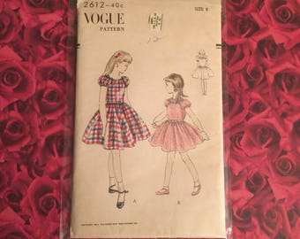 50's Vintage Vogue Girls Dress