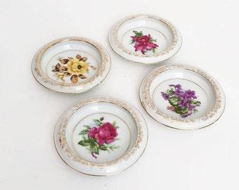Vintage Coaster Porcelain Flowers
