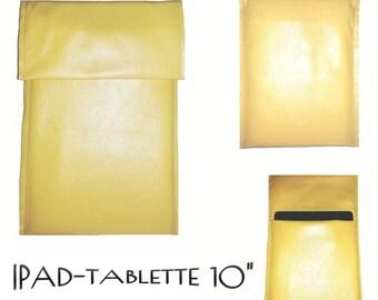 SpecialFilters housse etui pochette cuir Jaune vintage recyclé pour Ipad et Tablette 10 pouces