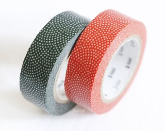 Japanese Washi Tape Traditional Red Blue Dots FAN