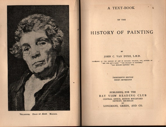 A Text-Book of the History of Painting + John C. Van Dyke + 1913 + Vintage Art Book