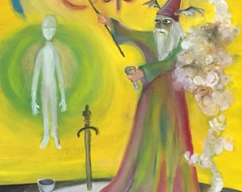 Tarot Card Painting inspired by Order of the Golden dawn