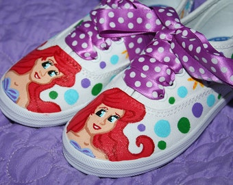 ARIEL The Little MERMAID Inspired Custom Shoes Any Size