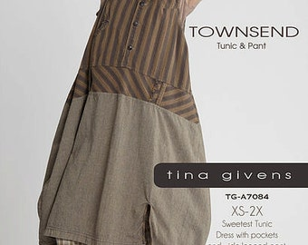 TOWNSEND Tunic & Pant  TGP-A7081 by Tina Givens- Lagenlook Style! 2 Great Pieces!