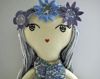 Floralistas handmade heirloom cloth doll