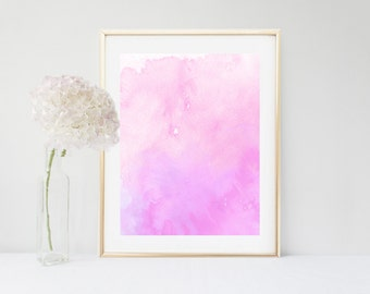 Watercolour Art Print, Pink Abstract Painting, Printable Art, Pink Wall Art, Abstract Print,  Modern Art, Instant Download, Wall Decor