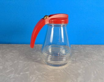 Vintage 1940's Red Syrup Dispenser - Art Deco - Federal Tool Corp. Syrup Dispenser