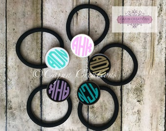 Monogram ponytail holder, hair ties, personalized girls hair accessories, cheer gift, cheerleading gifts, pony tail holder, gifts for girls