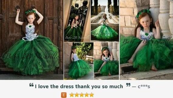 Green Dress Lace Dress Princess Party Dress Flower Girl Dress Wedding Dress Baby Dress Tutu Dress Toddler Dress Girls Dress Tulle Dress