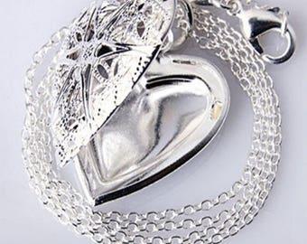 Hollow Heart Locket Necklace