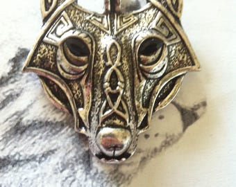 Viking Wolf celtic Wolf head print