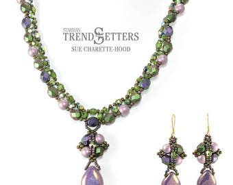 Tutorial for Beaded Alannah Necklace and Earrings