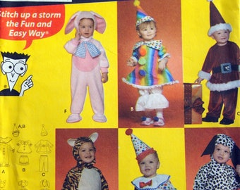 Toddlers' Costumes Size 1/2, 1, 2, 3 And 4 By Simplicity Sewing For Dummies 3604 Uncut Sewing Pattern 2007