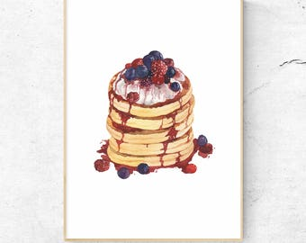 Berry Pancake - Mandie's Food Illustration Art Print