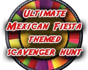 Mexican Fiesta Themed Scavenger Hunt List Collection