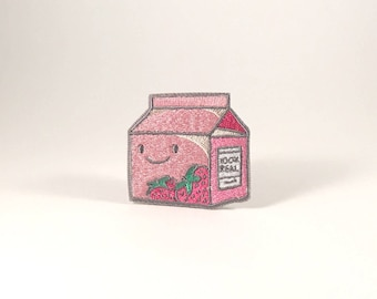 Strawberry Milk - Iron-On Patch