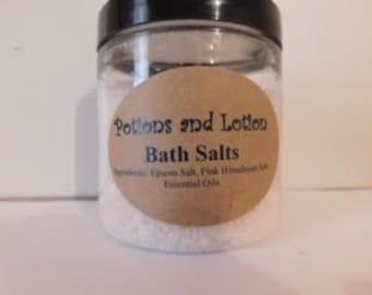 All Natural Bath Salts-Soothing-Bath Salts-Therapeutic-Epsom Salt-Himilayan Sea Salt-Gift Idea-Essential Oils-PotionsandLotion
