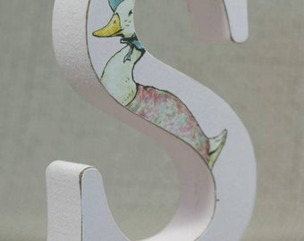 Jemima Puddleduck Nursery Letters, Hand painted Middleton Pink F&B, Free Gift Wrapping!