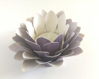 Paper Lotus Lantern -Metallic Purple-