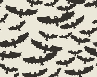Lost & Found Halloween by Riley Blake - Main Cream - Cotton Woven Fabric