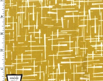 Michael Miller House of Hoppington Haystack Fabric - Gold - Priced by the 1/2 Yard