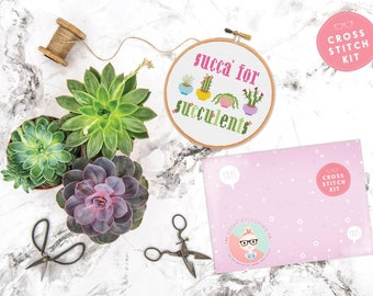 Cross Stitch Kit **Succa for Succulent**
