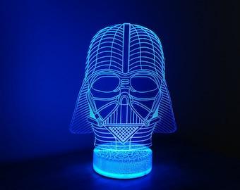 Star Wars Darth Vader 3D Night Lamp, 3D Night Light Illusion Children Light