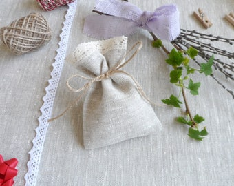 Lace favor bags 65. Small gift bags. Natural linen bags. Lace bags. Linen bags. Burlap mini bags