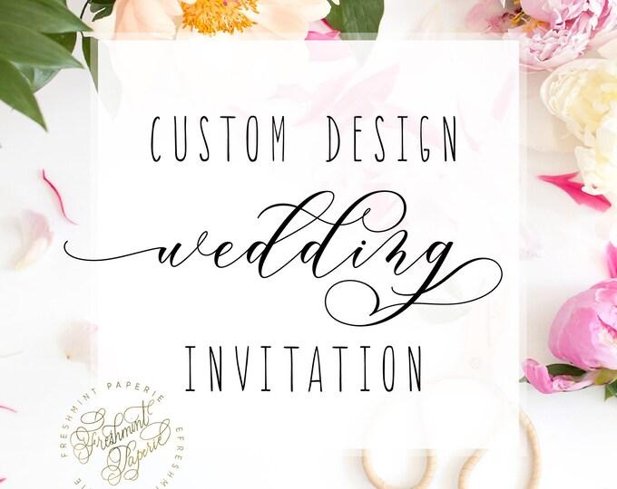 Custom WEDDING Invitation design listing - freshmint paperie