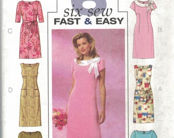 Butterick B4386 Misses Petite dress 6 variations Sz 16-22 ~~~ FREE SHIPPING in the USA!!!