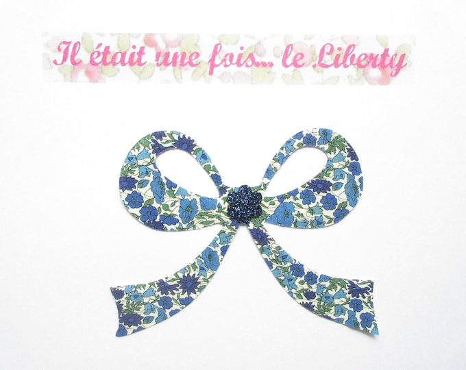 Applied fusible fabric node liberty Petal and bud flex blue glitter Thermo pattern liberty bow appliques iron-on patterns