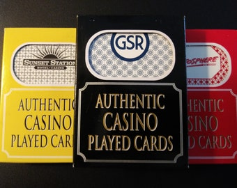 Authentic Casino Table Used Playing Cards