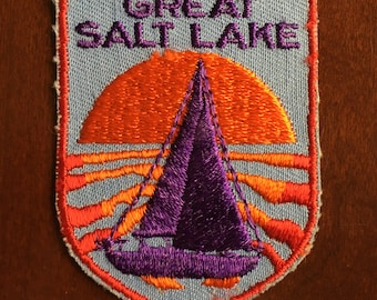 Great Salt Lake Vintage Souvenir Travel Patch from Voyager - New In Original Package