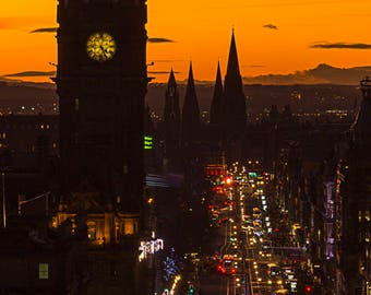Princes Street from Calton Hill, Edinburgh