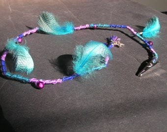 bohemian style removable atebas with feathers and charm