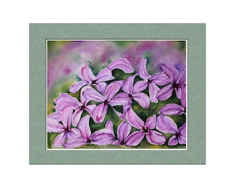 Lilac Painting, Original Watercolor, Floral Home Decor, Lilac Watercolor, Purple Artwork, Floral Art, Abstract Watercolor, Abstract Flower