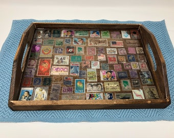 Stamp collection tray