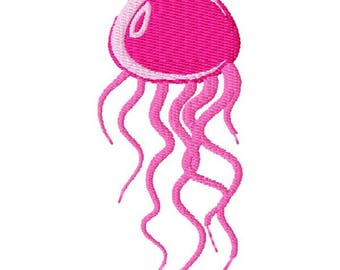 Jellyfish Machine Embroidery Design - Instant Download
