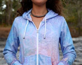 SPECTRAL Women's Hoodie sweatshirt / festival hoodie / flower of life hoodie / sacred geometry hoodie / Pastel sweatshirt