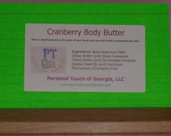 Cranberry Body Butter