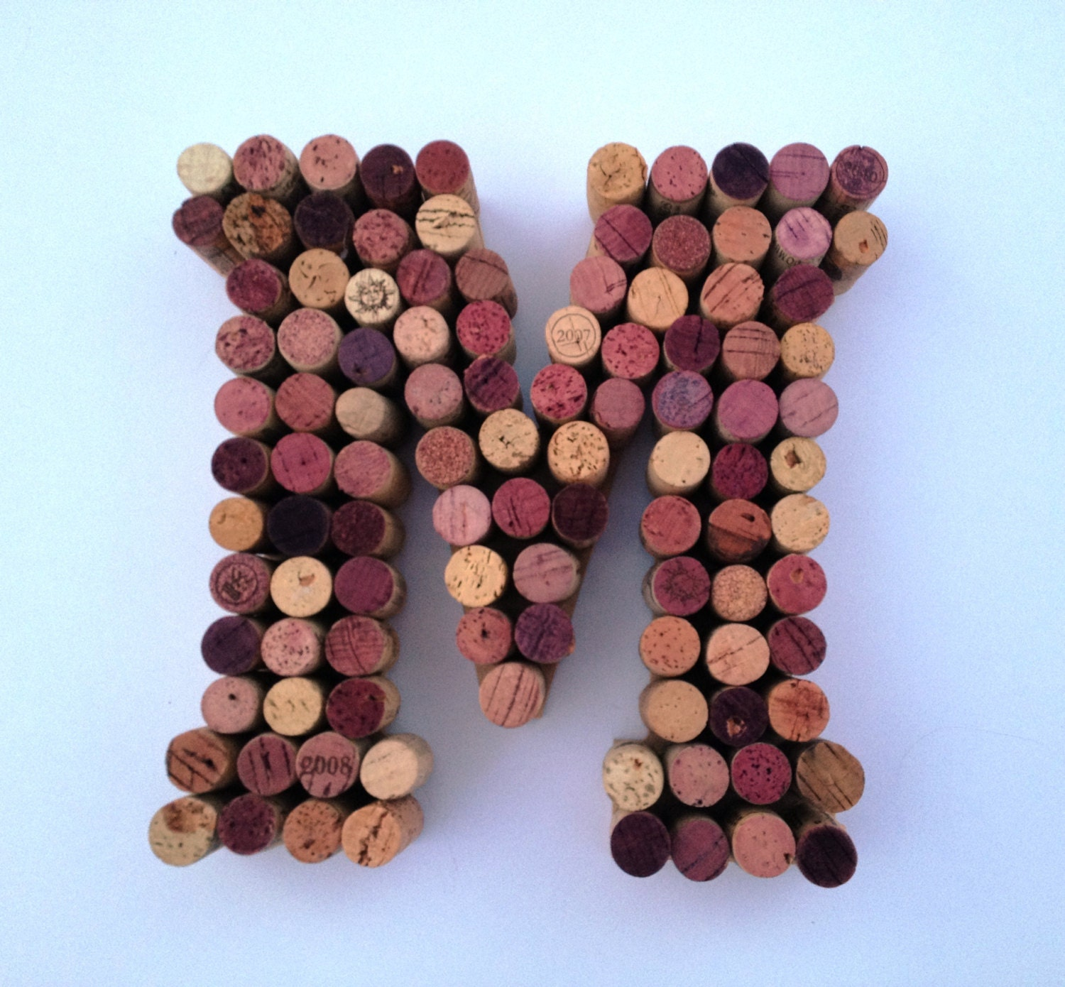 zoom Wine Corks Letter M made from