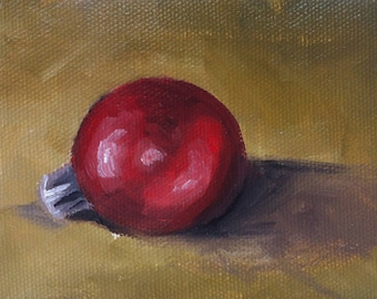 Christmas Ornament oil painting