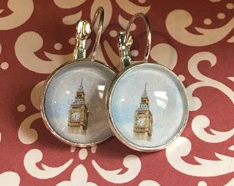 Big Ben cabochon earrings- 16mm